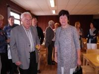 Op de voorgrond: bestuurslid Lambert Janssen en Frieda Brepoels